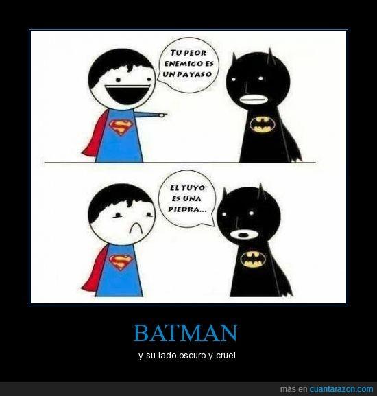 batman,crueldad,enemigo,joker,kriptonita,payaso,piedra,superman