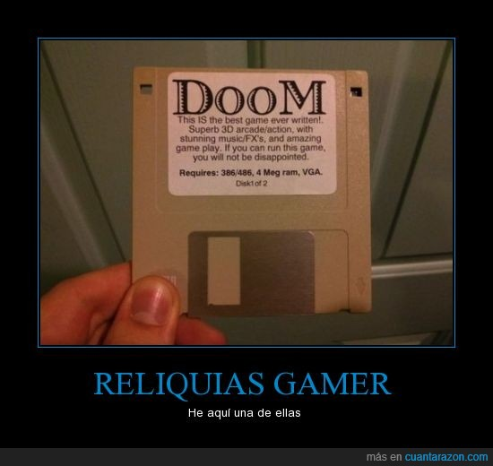 1 of 2,diskette,doom,gamer,ms dos,reliquia,windows 95