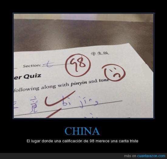 100,98,Asiáticos,Buena Calificación,Carita triste,China,notas,perfecto