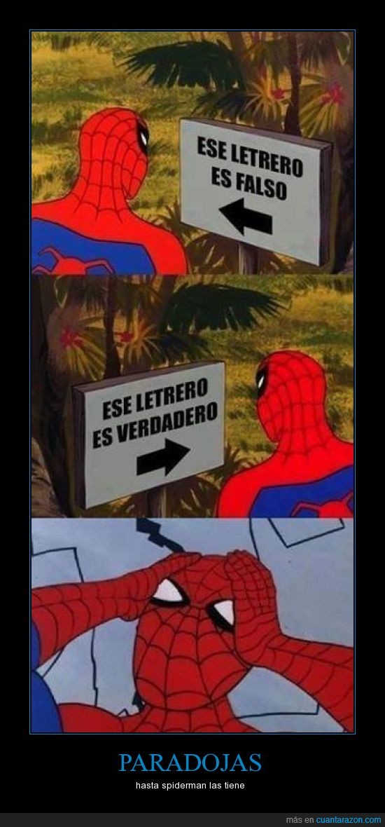 brain explode,carteles,falso,paradoja,spiderman