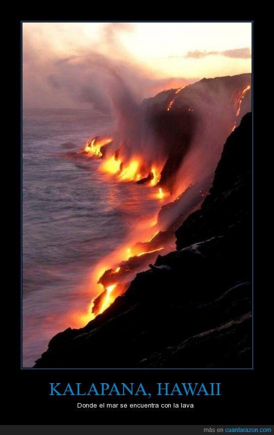 encontrar,hawaii,lava,mar,naturaleza