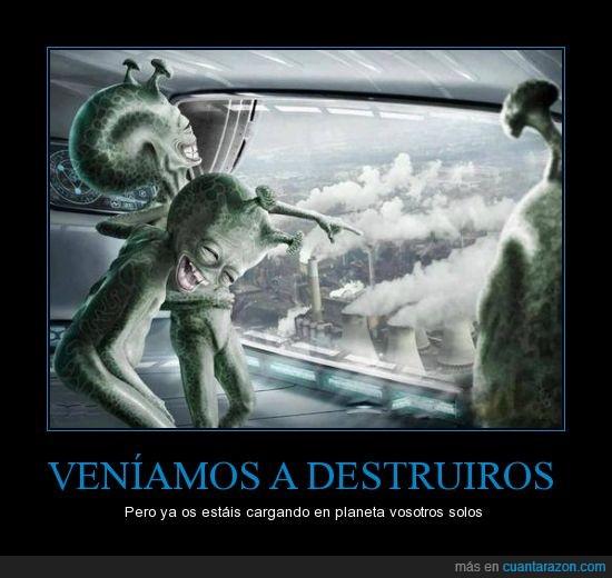 aactualidad,contaminación,Extraterrestres,invasión,marcianos,mundo,planeta,progreso,tierra