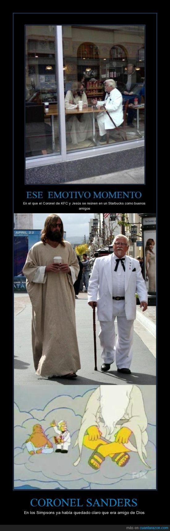 Coronel Sanders,Dios,Jesus,KFC,Memondo está en venta?,Simpsons