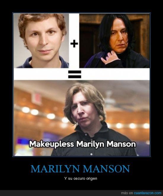 entonces ellos dos se tocaron,Marilyn Manson,perturbante,Snape