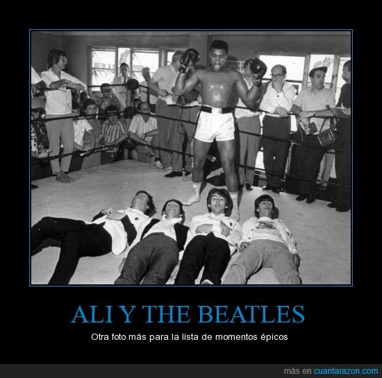 ali,momento epico,reunion,ring,the beatles