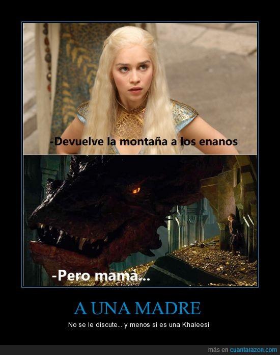 hobbit,khaleesi,montaña,smaug,tesoro