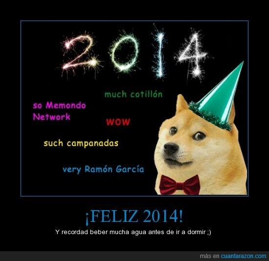 2014,celebrar,doge,logro,memondo,nochevieja,wow much celebration