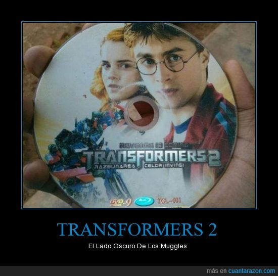 china,Fail,fake,falsa,harry potter,mezcla,Muggles,Transformers
