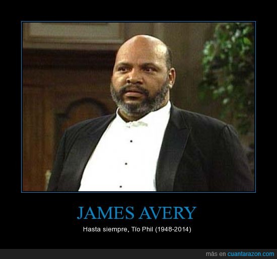 James Avery,muerte,Phil,principe,principe de belair,tío phil