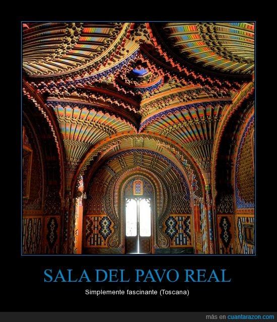 arquitectura,color,pavo real,sala,toscana