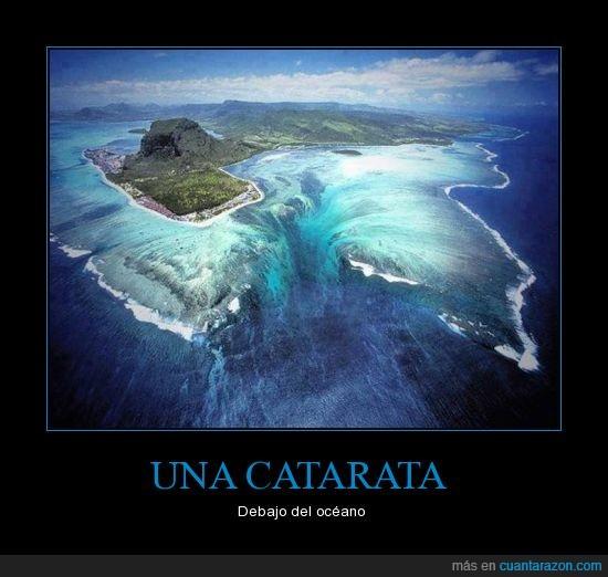 Cascada; catarata; debajo del océano; naturaleza; paisaje paradisíaco