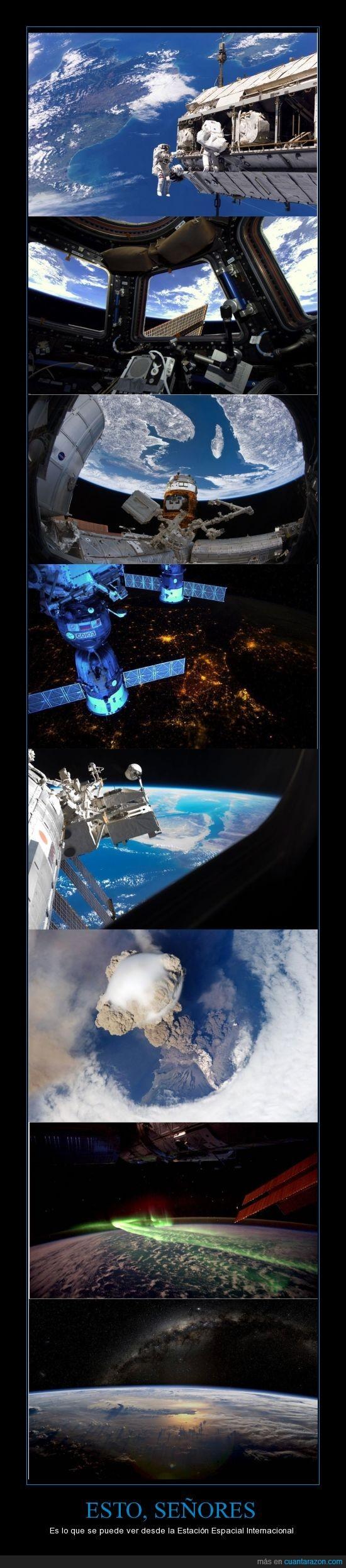 astronautas,aurora australis,estación espacial internacional,europa,iss,península del sinaí,québec,tierra,vía láctea