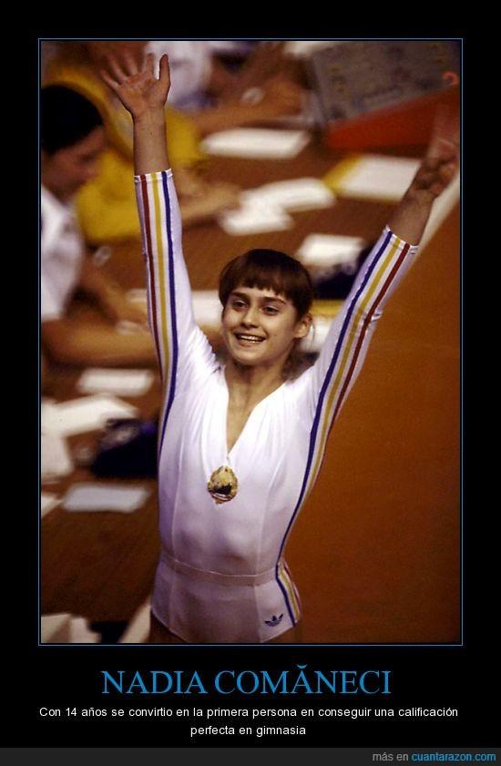 medalla,nadia comaneci,olimpica,perfecto