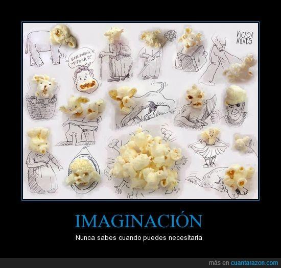 creatividad,dibujo,imaginación,palomitas,popcorn