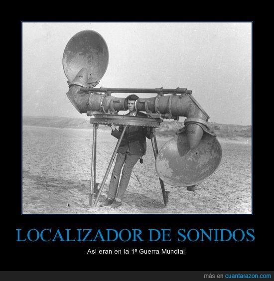 antiguo,detector,localizador,sonidos