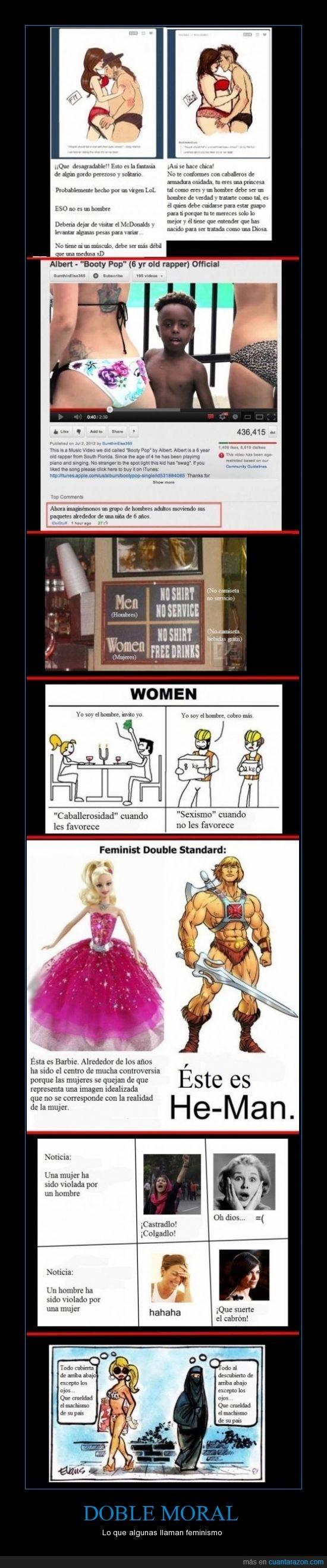 doble moral,feminismo,no todas pero si muchas