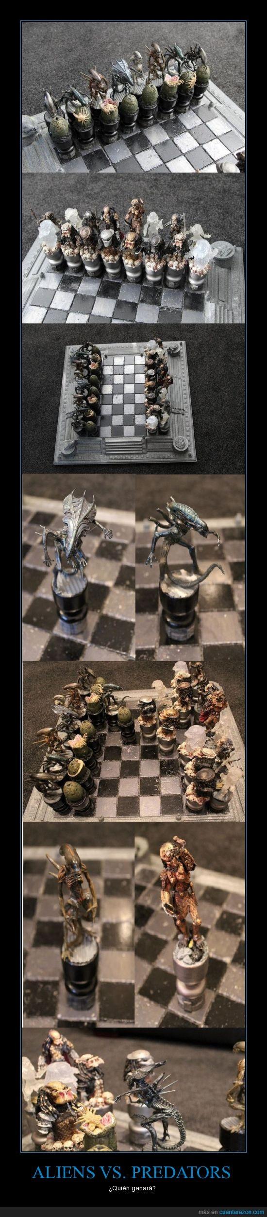 ajedrez,aliens,juego,mola,predator