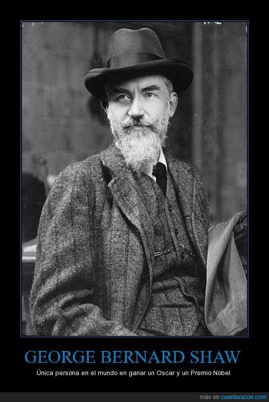 Cine,George Bernard Shaw,Literatura,Oscar,Premio Nobel