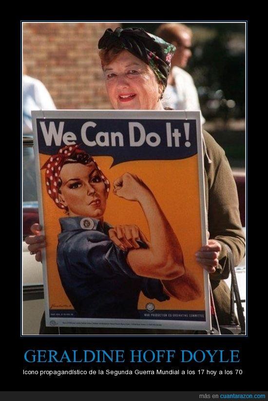 cartel,esfuerzo,Estados Unidos,mujer trabajadora,Propaganda,Segunda Guerra Mundial