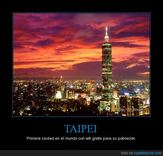 2.6 millones de habitantes,Gratis,Taipei,Taiwan,Wifi