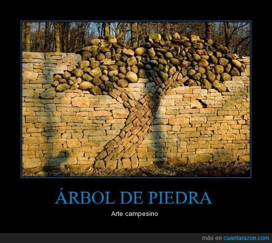 árbol,arte,barda,cantera,muro,piedra,rocas
