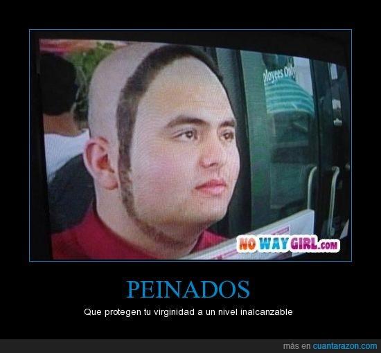 afeitar,barba,niño,pelo,que le pasa en la cabeza,rapado,redonda,triste