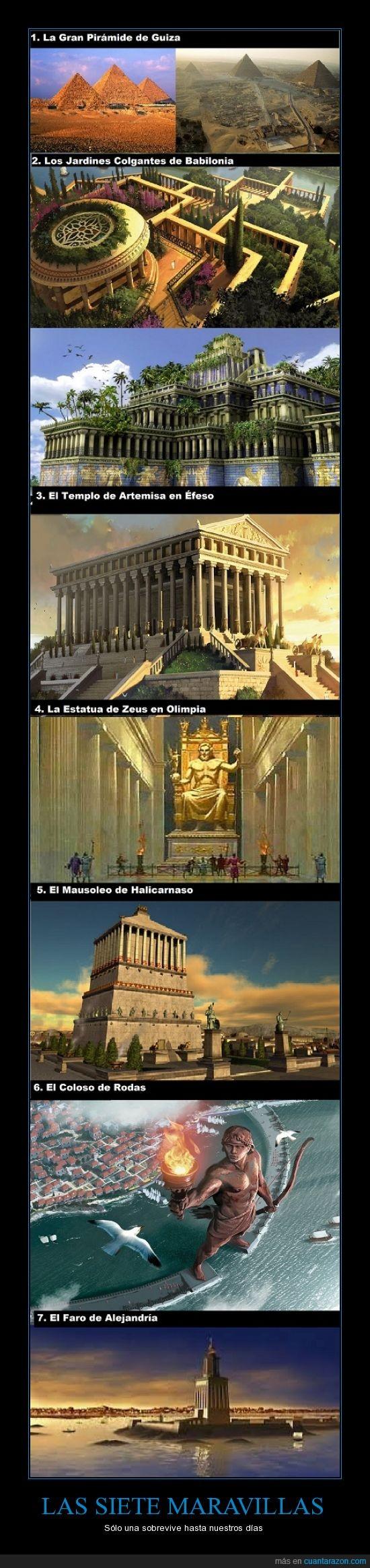 coloso,estatua,faro,jardines,maravillas,mundo antiguo,pirámides,templo