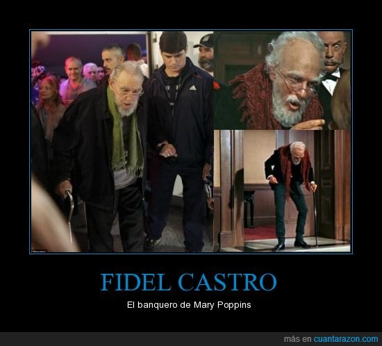 cuba,disney,fidel castro,humor,lol,mary poppins