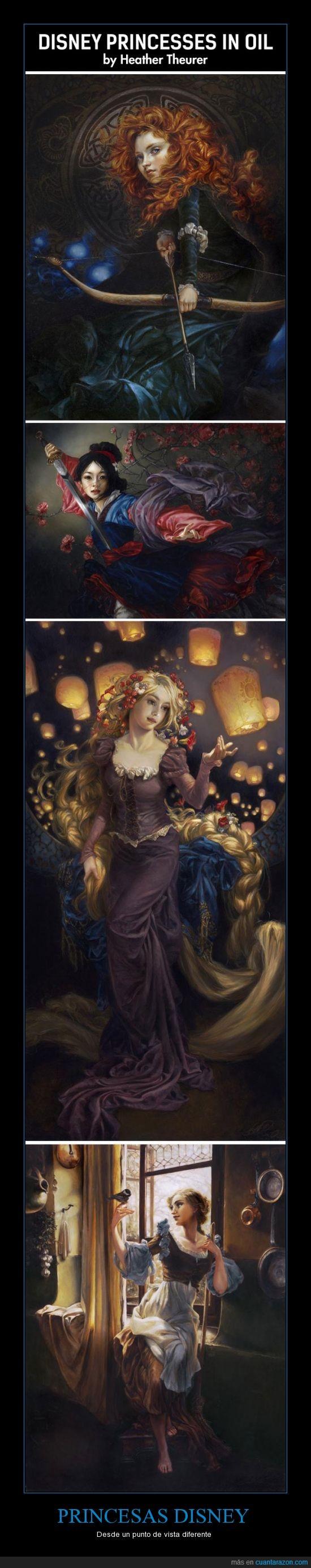 arte,diferente,disney,pintura,princesas,vista
