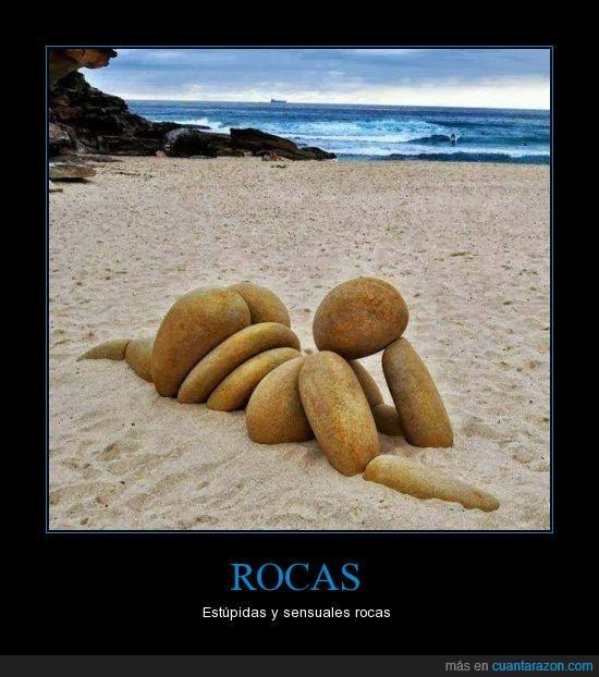 arena,chica,estupida y sensual roca,piedras,playa,pose,rocas