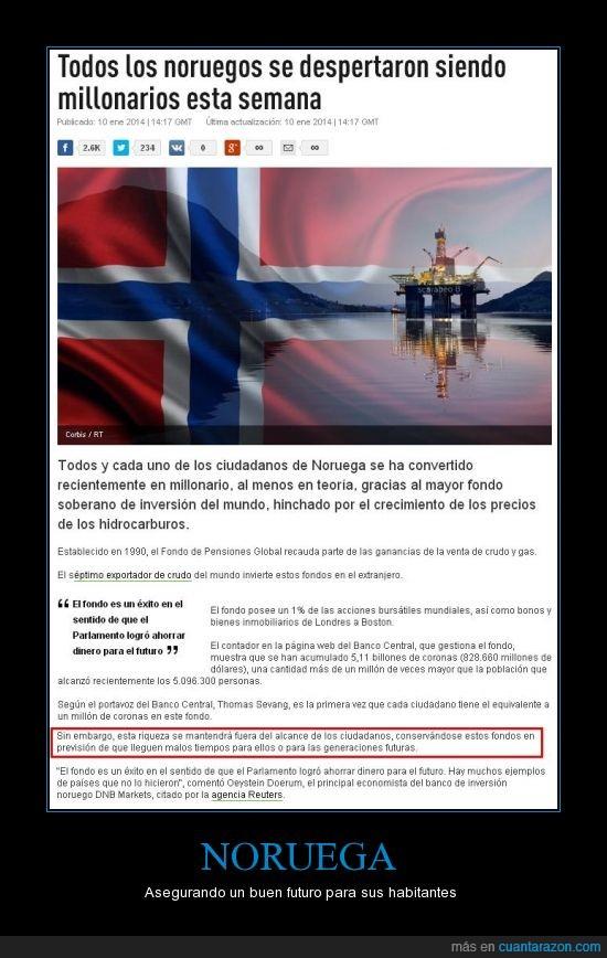 futuro,futuro asegurado,Hidrocarburos,Noruega,petroleo,reserva,sabio gobierno,su poblacion aumentara