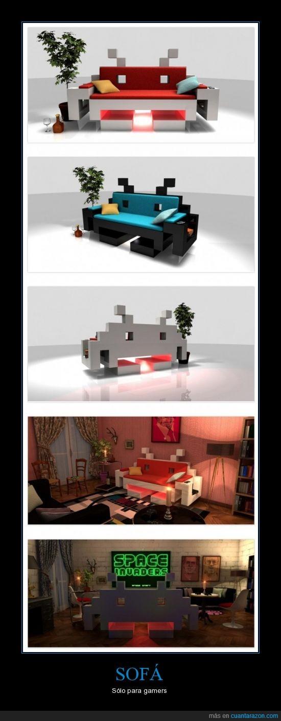 gamer,pronto muy pronto,sofá,space invader,videojuegos
