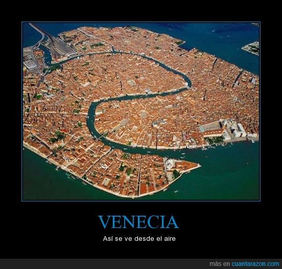 aire,r io que parece una vena,venecia