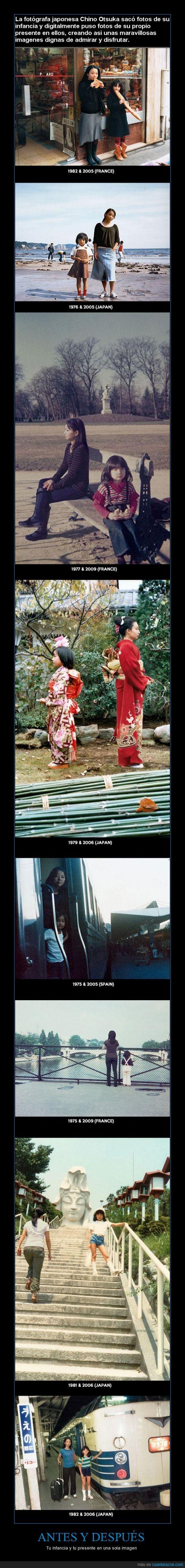 antes y despues,chino otsuka,digital,fotos,imagen,infancia,presente