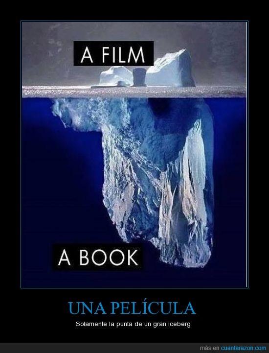 historia,iceberg,lector,libro,pelicula,punta