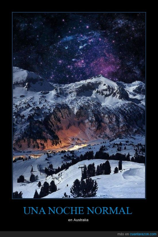 Australia,cielo,espacio,esquiar,estrella,estrellada,maravillosa,montaña,nieve,noche