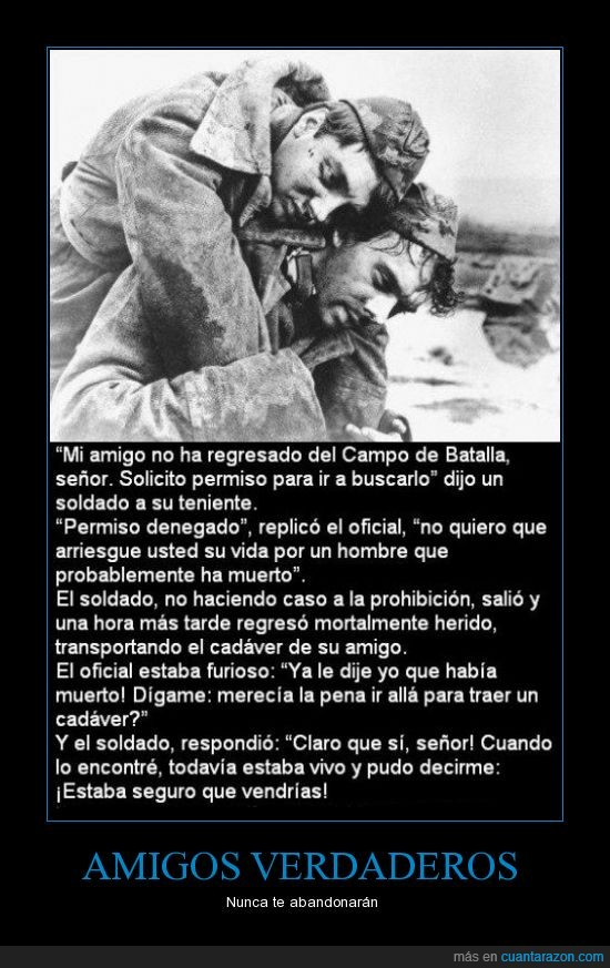 abandonar,amigos,amigos verdaderos,amistad,batalla,guerra,herido,muerto,soldado
