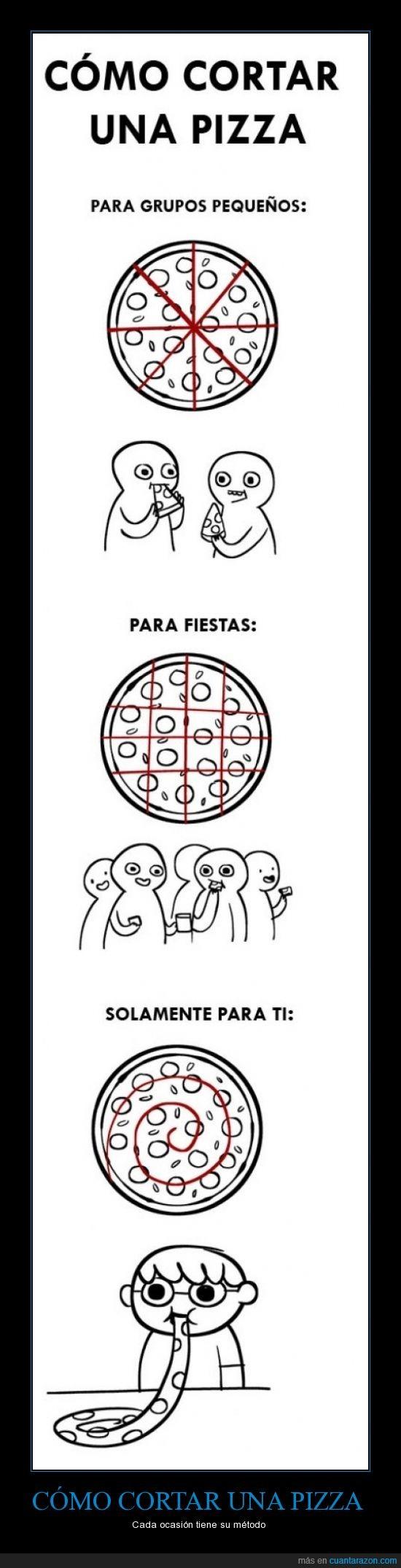 como cortar una pizza,mi traducción,muy útil,no compartiré nunca más,pizza