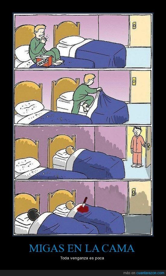 cama,dormir,matar,migas,puñal