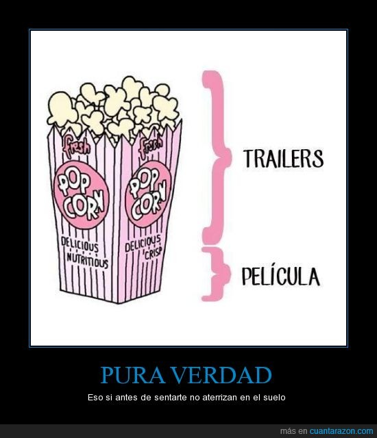 cine,comer,palomitas,peli,pelicula,popcorn,trailers