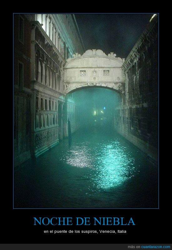 assasin creed 2,hermoso,niebla,noche,puente de los suspiros