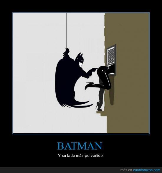Batman,Catwoman,pervertido,tocar,traje