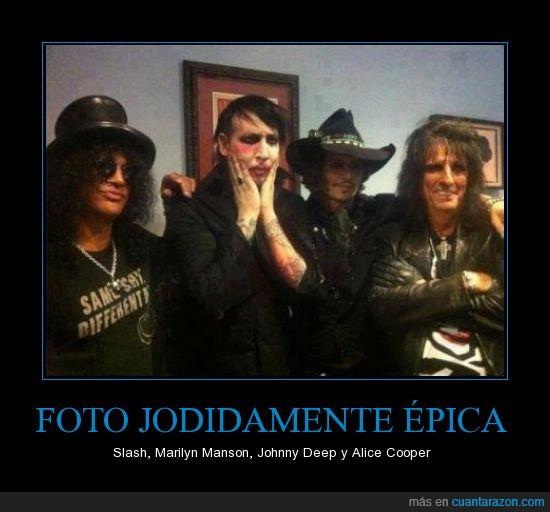 alice cooper,epica,epico,foto,guns and roses,jhonny deep,marilyn manson,slash