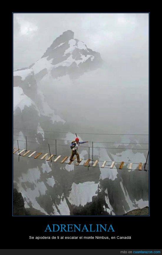 Adrenalina,caer,Canadá,escalar,Monte Ninbus,puente