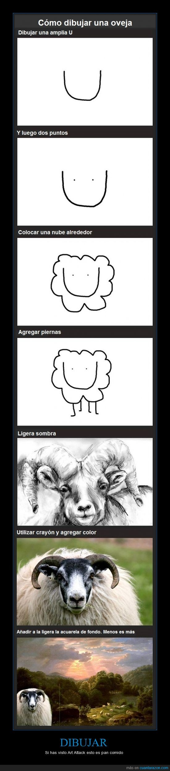 art attack,cómo hacerlo,dibujar,oveja,parece fácil