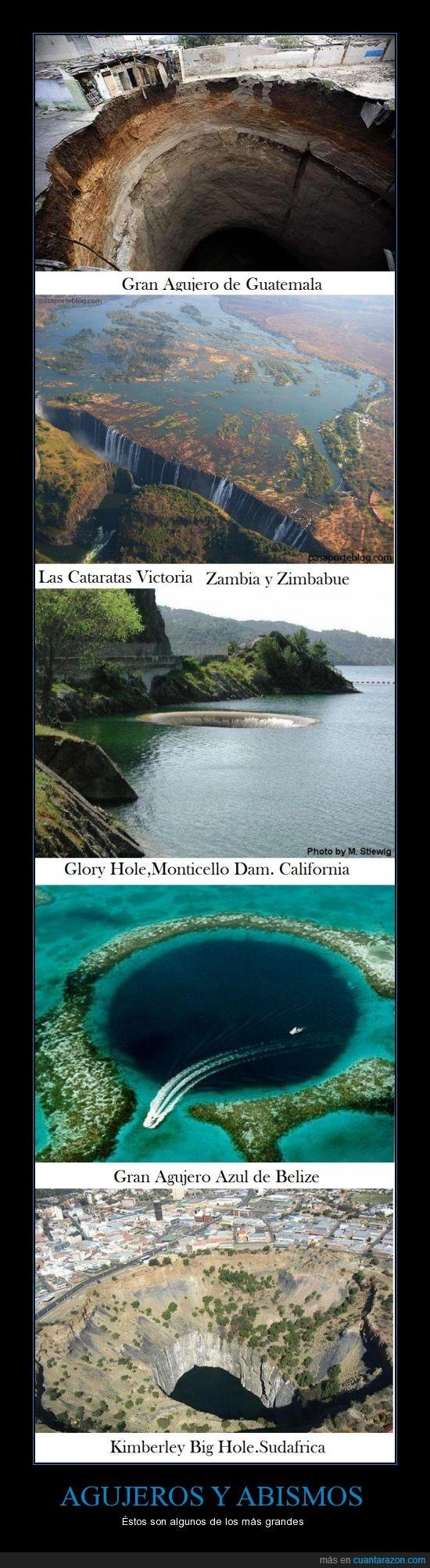 Abismos,Agujeros,Belize,Guatemala,Sudafrica