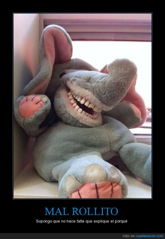 dientes,elefante,explique,macabro,Mal,rollito