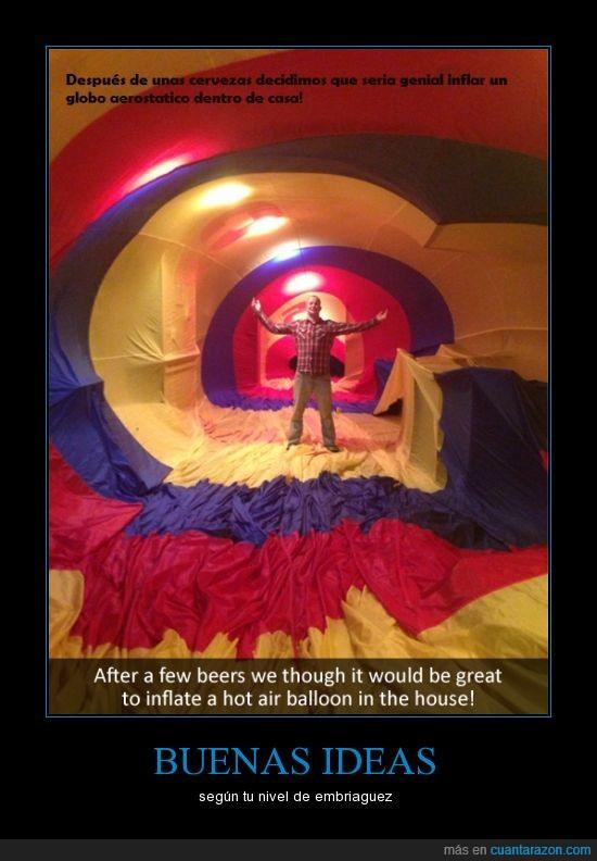 aerostatico,borracho,chico,globo,idea