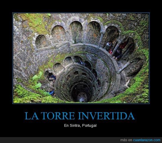 espiral,La torre invertida,Portugal,profundidad,Sintra