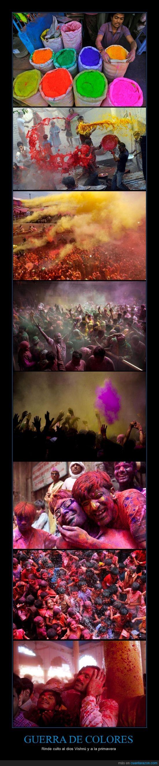 Colores,Guerra,India,Primavera,Vishnú